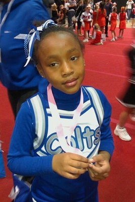 me at my cheerleading bankwed